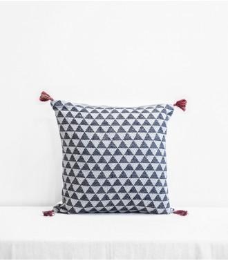 coussin ethnique noir charbon 40x65 cm. Black Bedroom Furniture Sets. Home Design Ideas