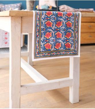 chemin de table Jaipur Bleu