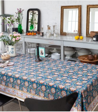 Table cover Louise blue