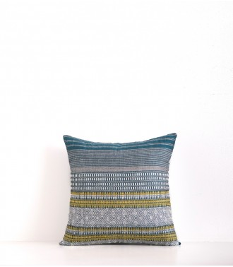 Hand-woven cushion cover Juhi duck blue