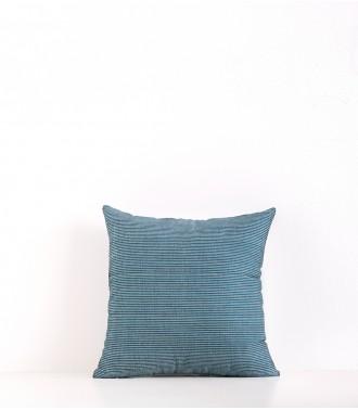 Hand-woven cushion cover Suri duck blue