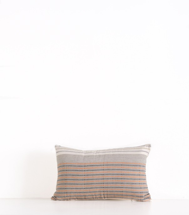 hand woven offwhiite Chris cushion cover
