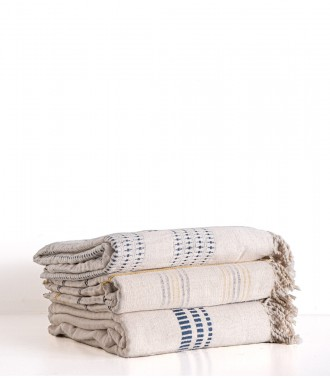 Hand-woven throws