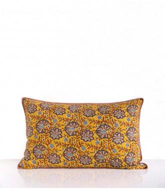 Hand-printed cushion cover