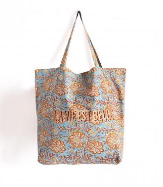 Pale blue tote bag