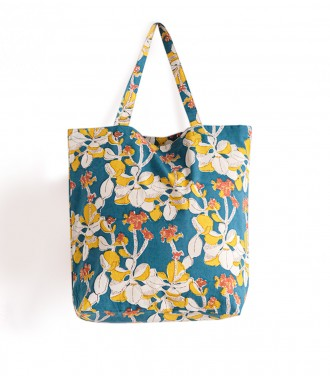 Duck blue tote bag