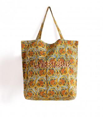 Mustard yellow tote bag