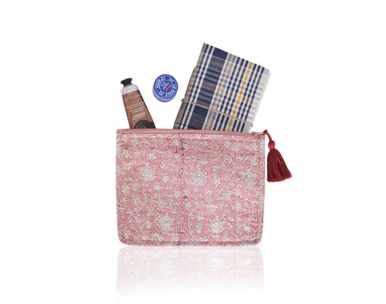 Dusty pink pouch
