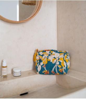 Trousse de toilette bleu canard
