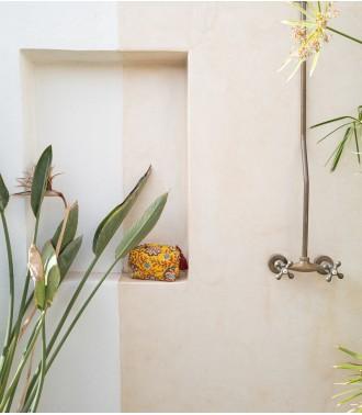 Trousse de toilette jaune moutarde