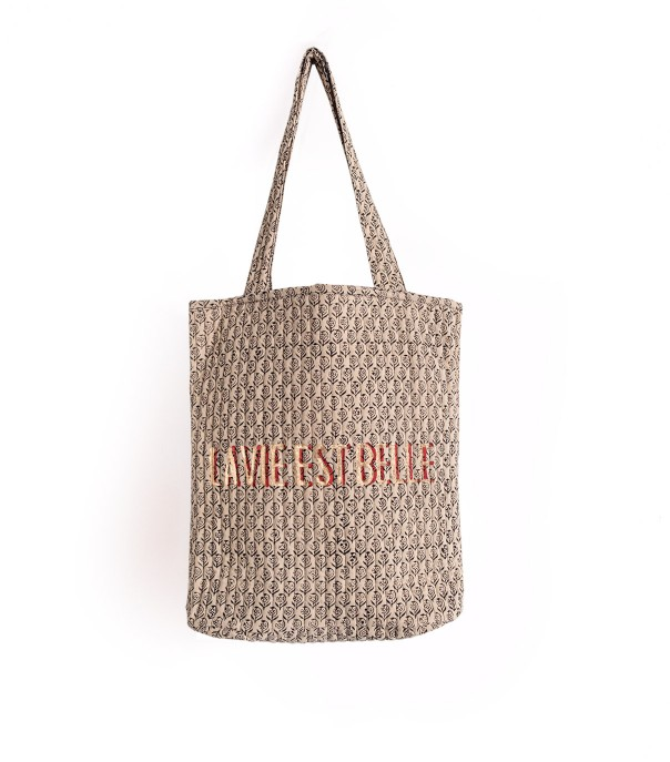 Quilted tote bag - Arun