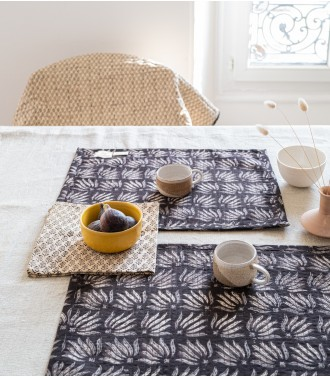 Quilted table mat