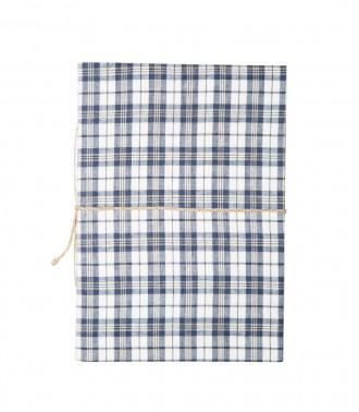 Notebook - Madras bleu gris