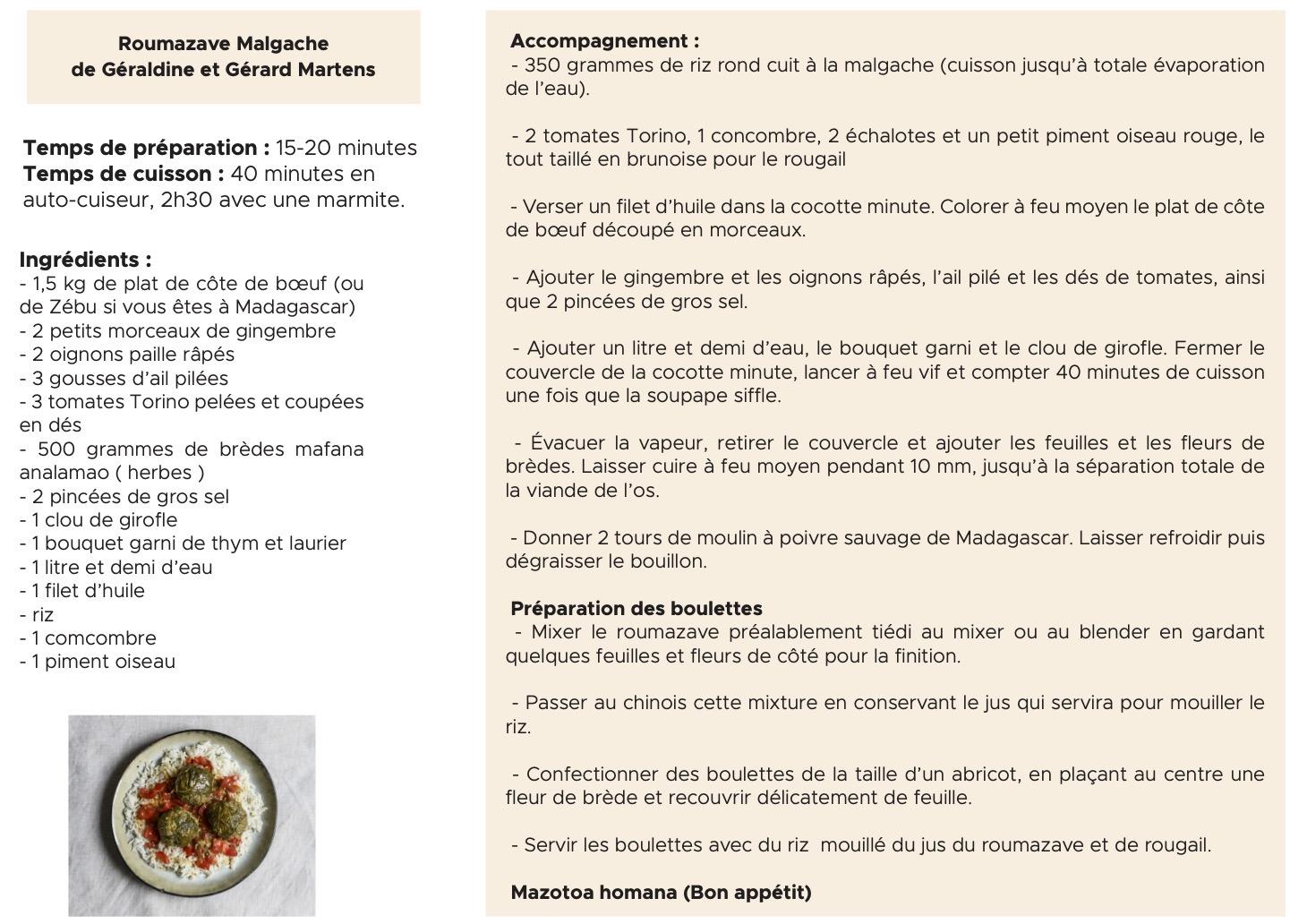 recette roumazave malgache