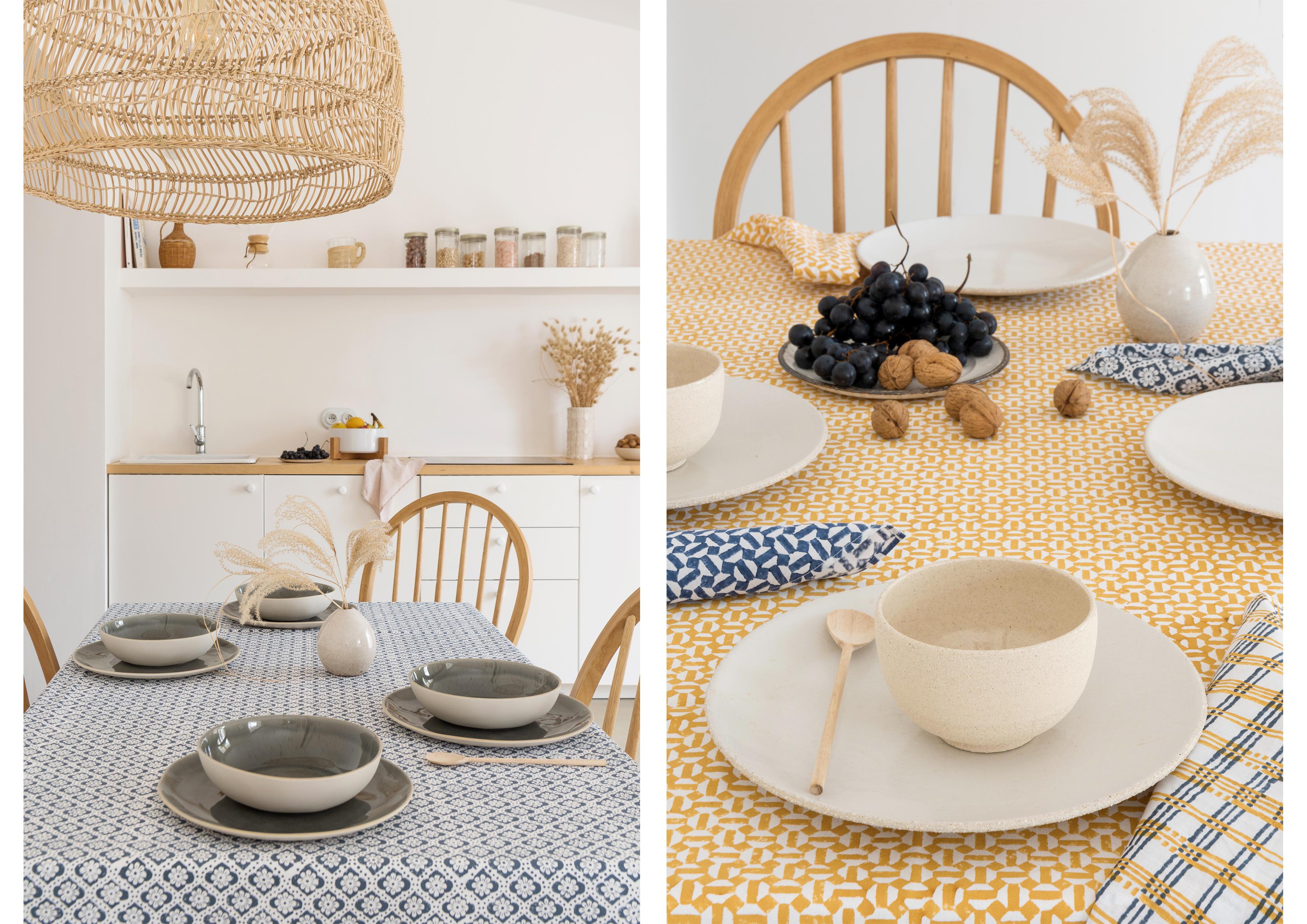 organic table linen and table jamini