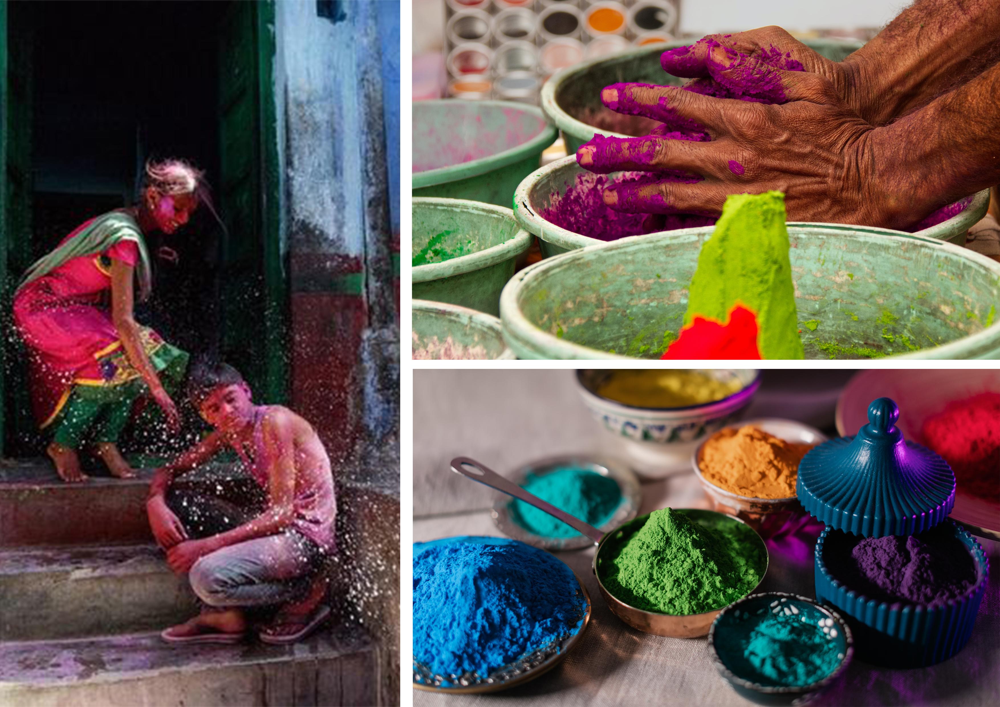 poudre en couleurs