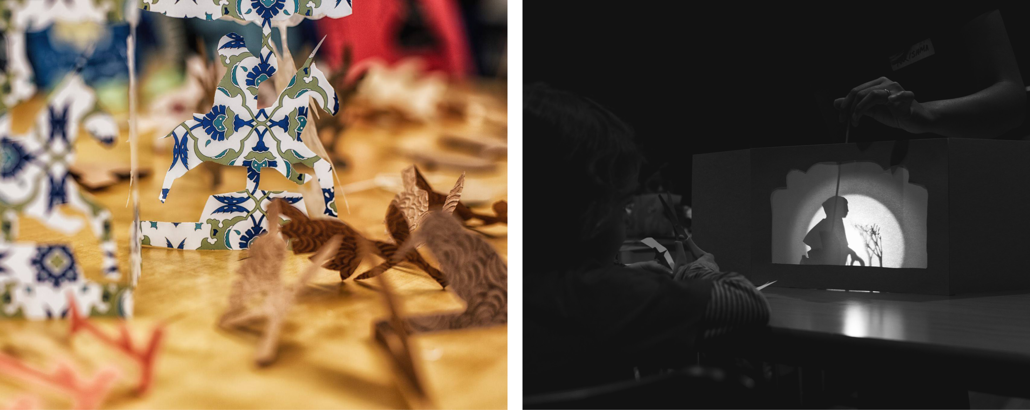 shadow puppets, paper-theatres