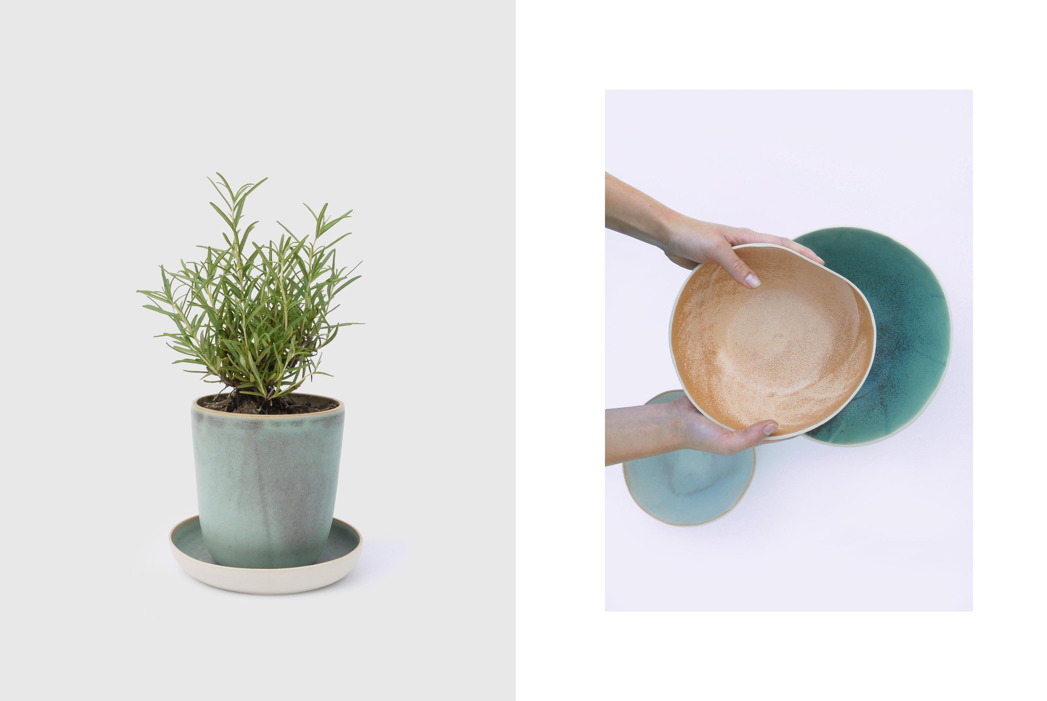 flower pot on ceramic