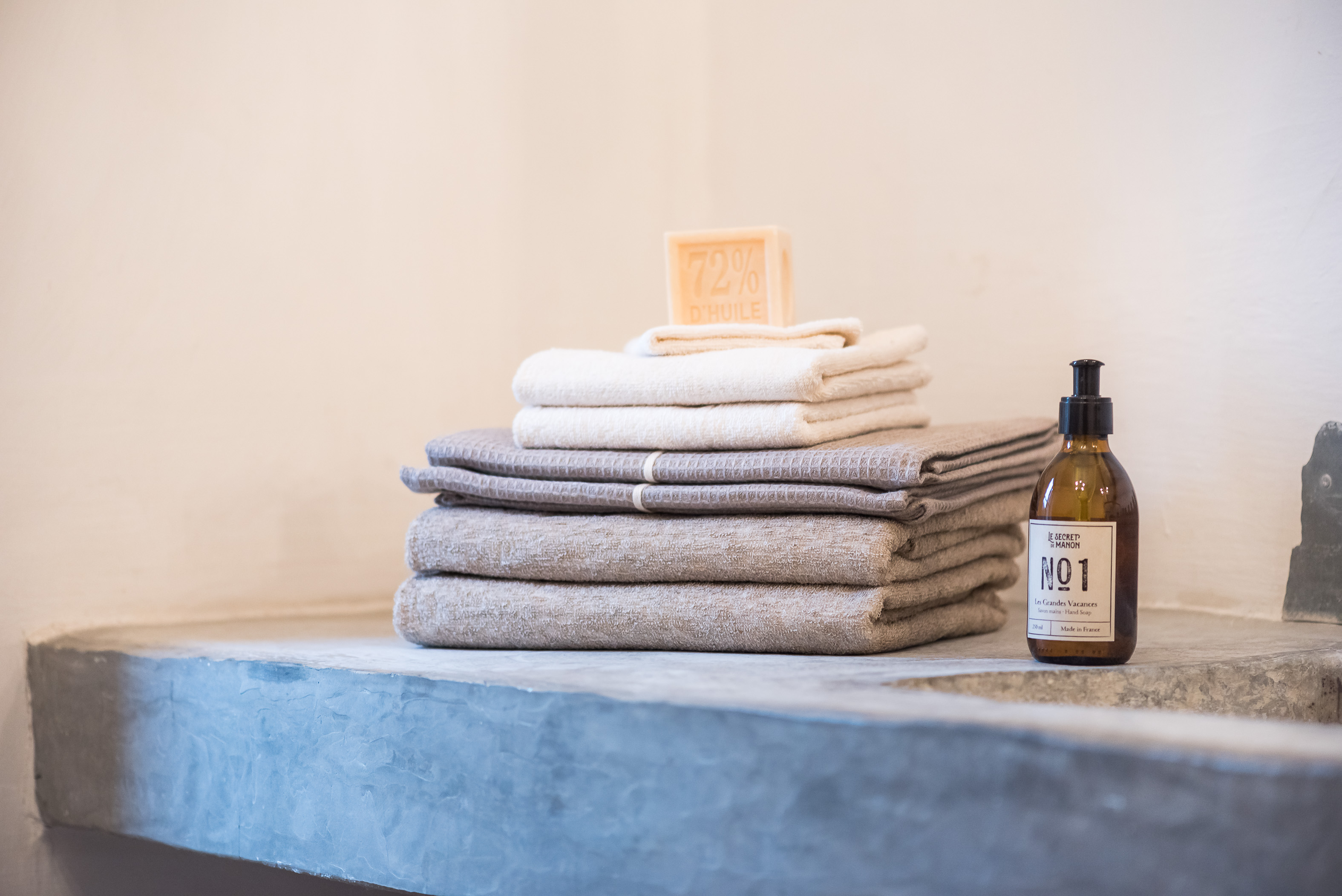 towels and soaps