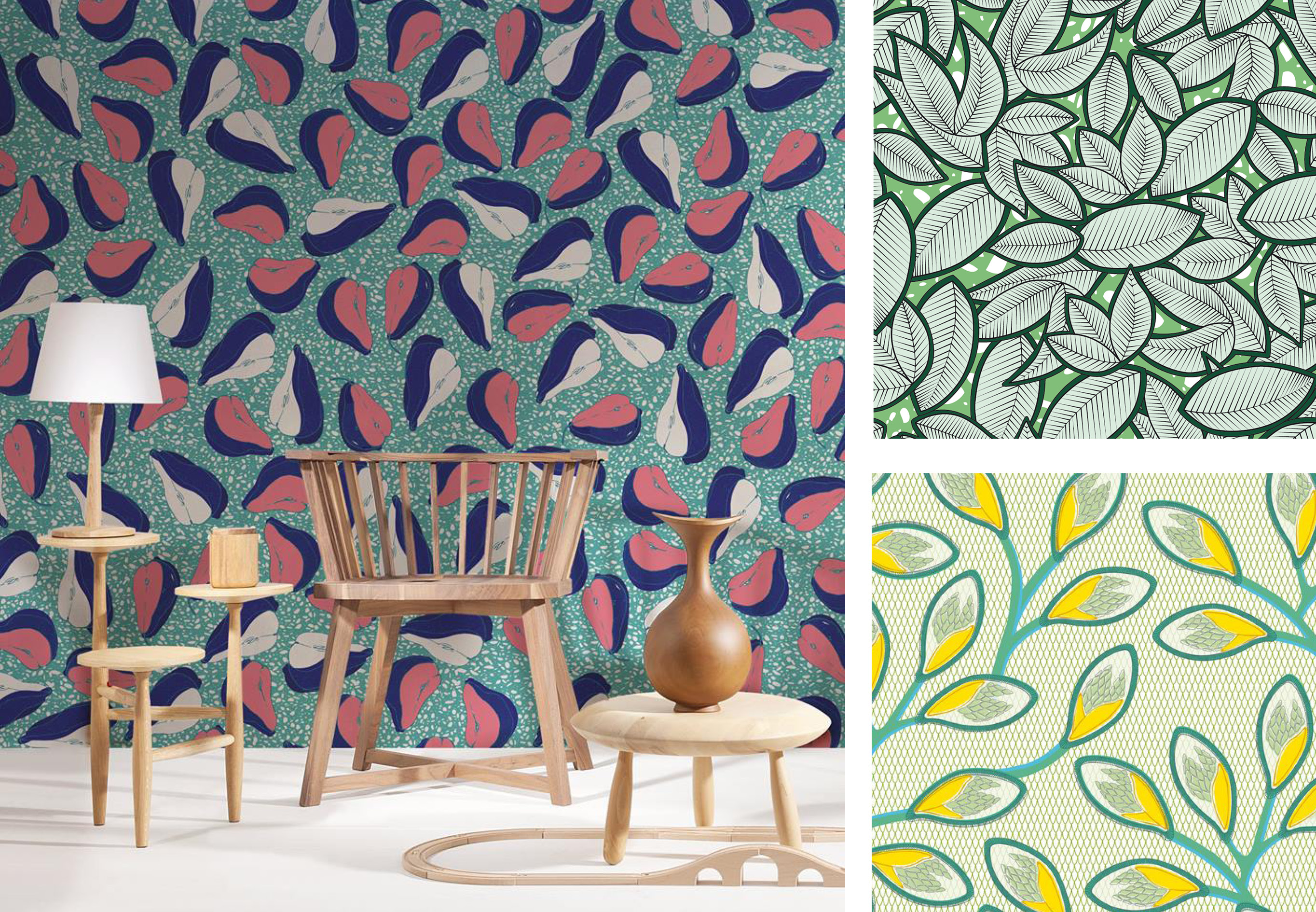 colorful patterned wallpapers