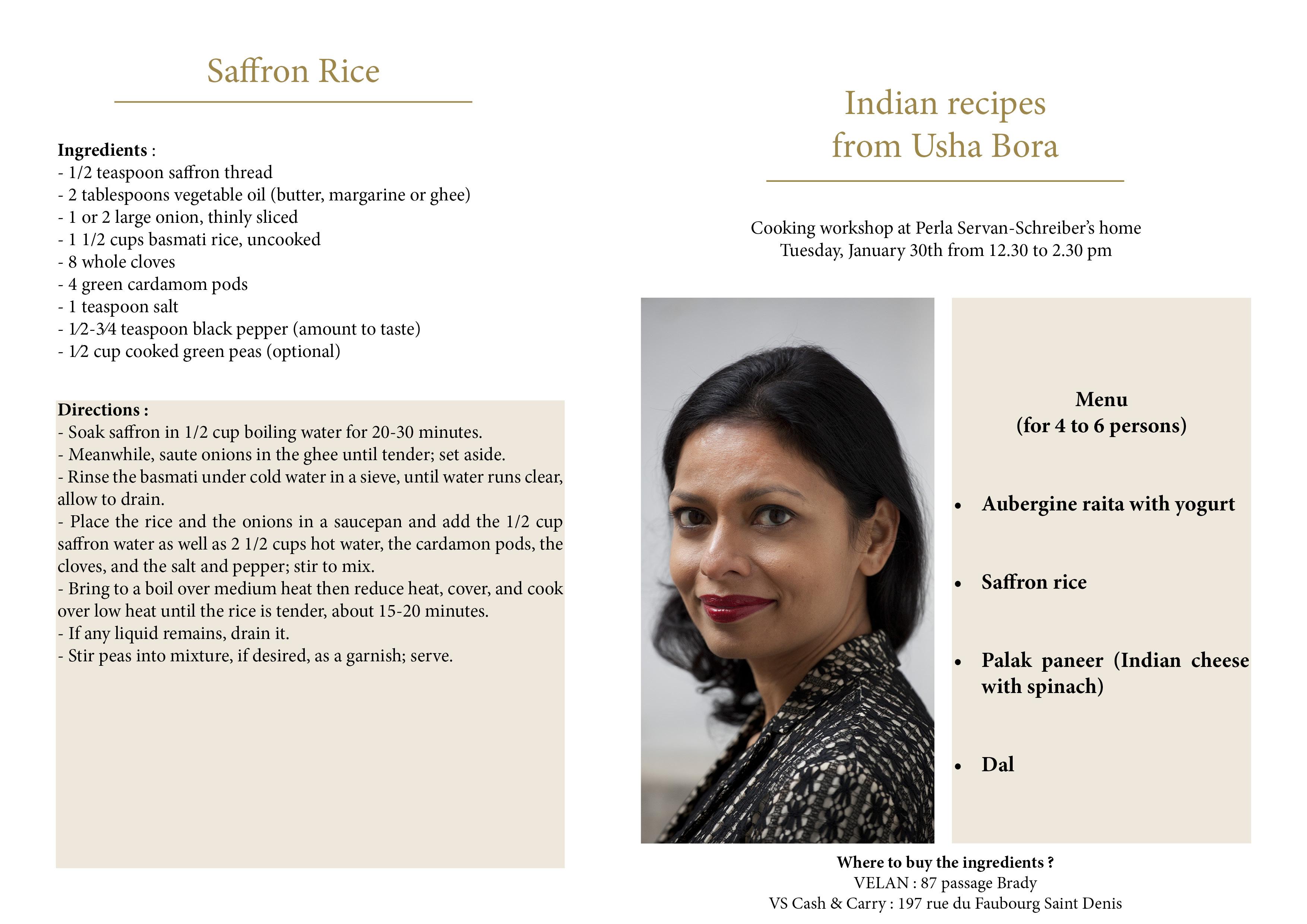 Indian recipes by Bora Usha