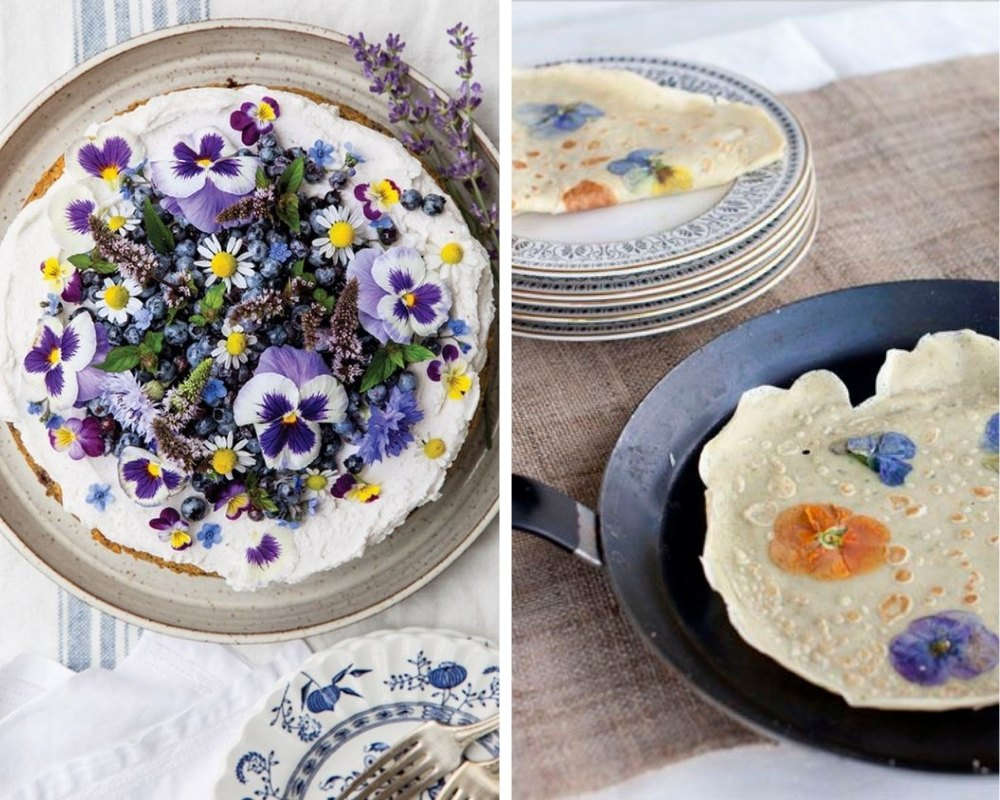 pancake with flowers
